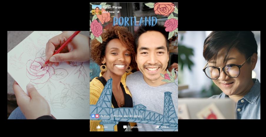 Jeder kann Frames-Designer werden – Facebook setzt auf die Kreativität seiner Community.
